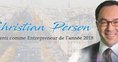 Christian Person, PDG de Umalis Group pressenti comme « Entrepreneur de l'année 2018 »